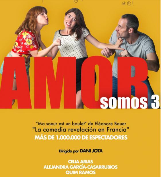 Cartel de la comedia teatral 'Amor somos 3'