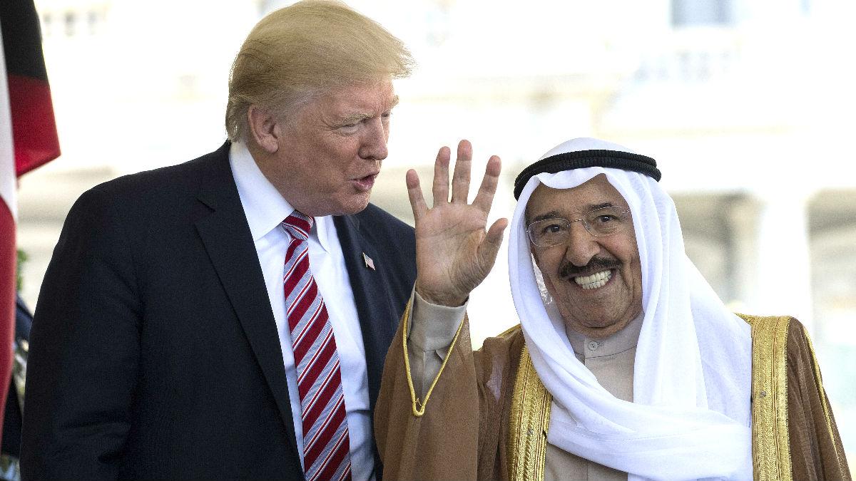Trump y el emir de Kuwait este viernes en la Casa Blanca (Foto: AFP).
