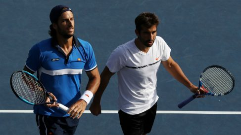 Feliciano y Marc López. (AFP)