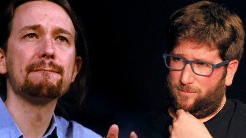 Pablo Iglesias y Miguel Urban, líder de Anticapitalistas.