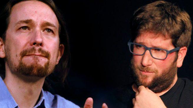 anticapitalistas Pablo Iglesias y Miguel Urban, líder de Anticapitalistas.