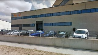 Sede de Indugraf, la imprenta sospechosa de colaborar en el referéndum ilegal, en el polígono industrial de Constanti (Tarragona).