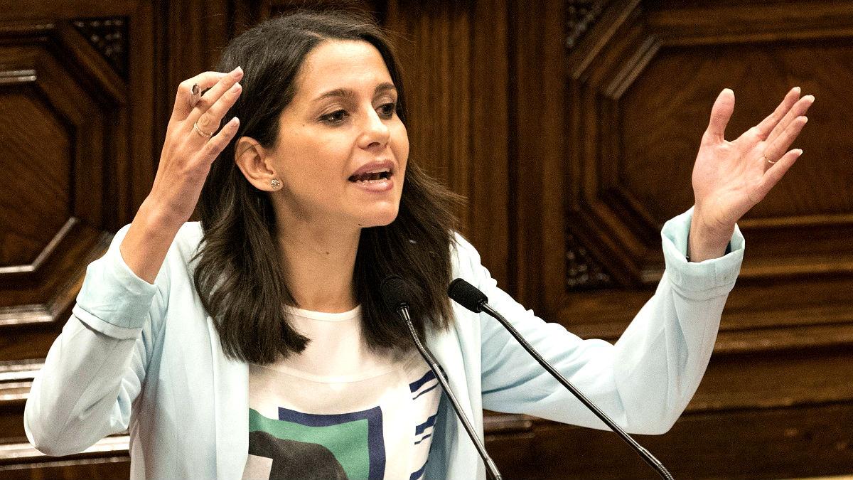 Inés Arrimadas en el Parlament (Foto: Efe).