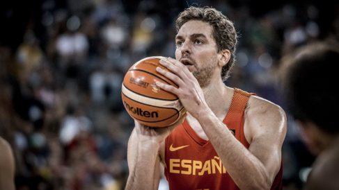 Pau Gasol, en un partido con la selección española. (baloncestofeb)