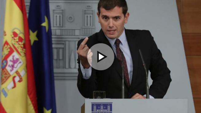 Rivera da a entender que Sánchez no quiere una reunión con él y Rajoy juntos frente al 1-O