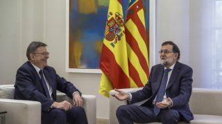 Ximo Puig en la Moncloa con Mariano Rajoy. (EFE)