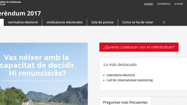 web del referéndum