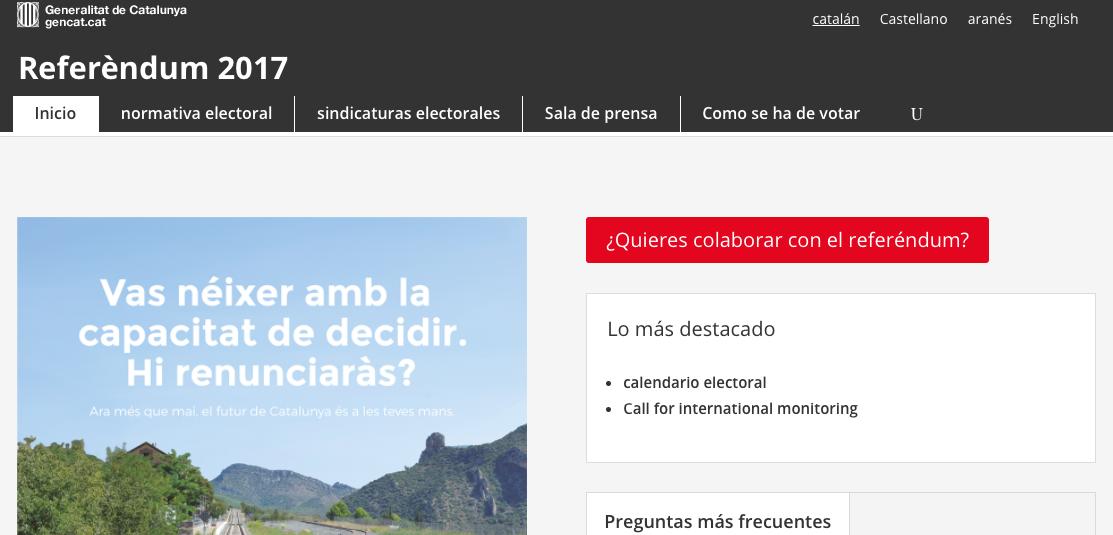 Web del referéndm
