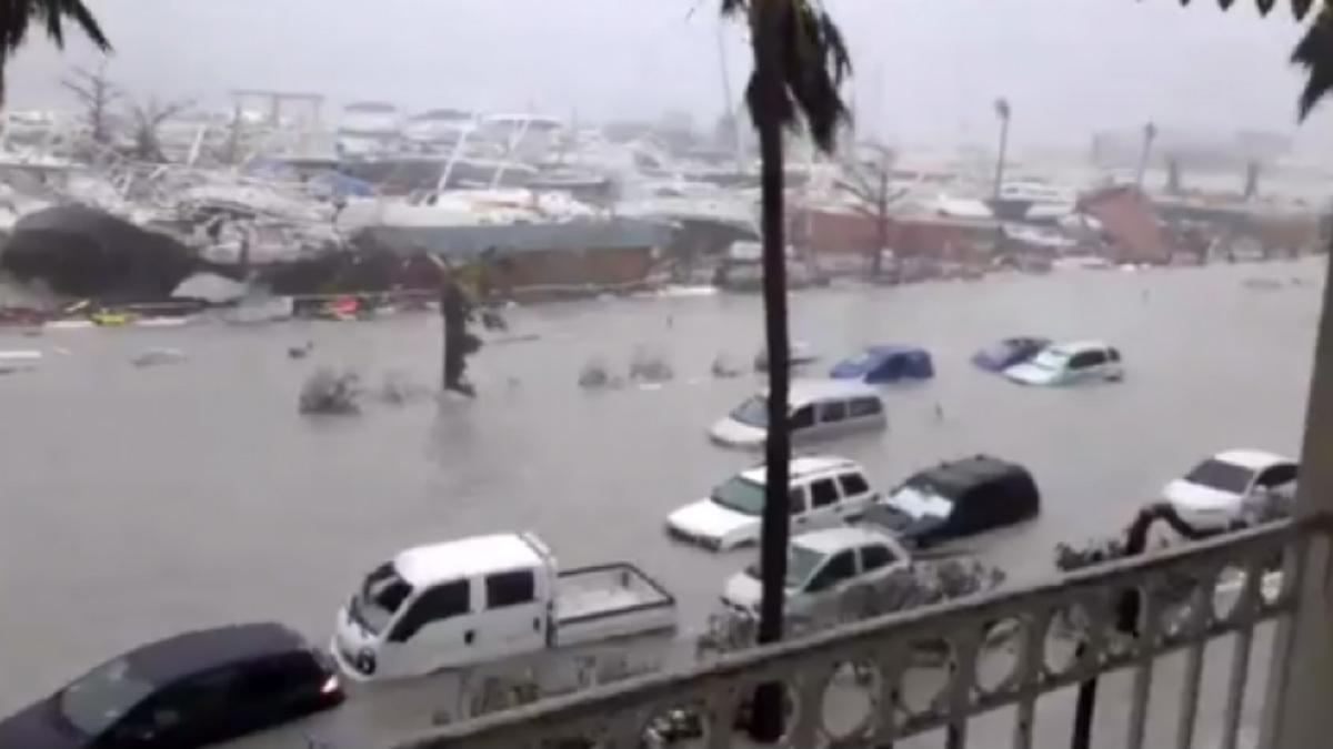 La parte holandesa de la isla caribeña de San Martín, al paso del huracán 'Irma'.