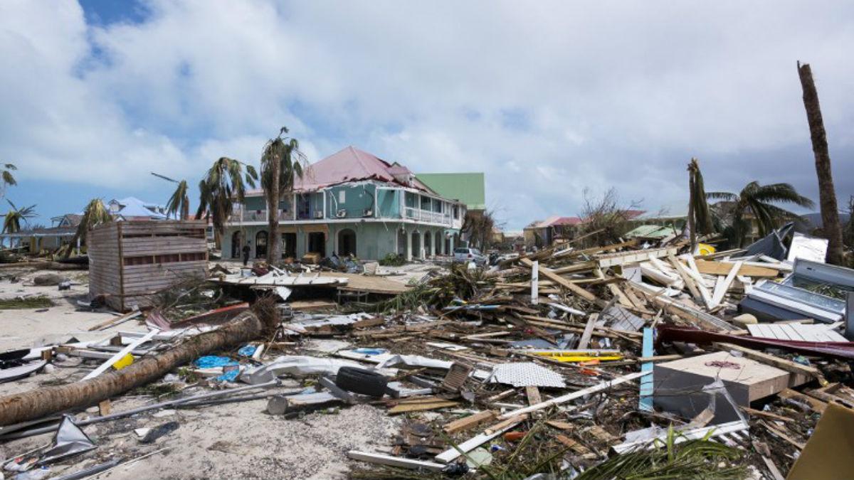 La Isla de San Martín, el Carbie francés, ha quedado totalmente arrasada por el huracán 'Irma'. Foto: AFP