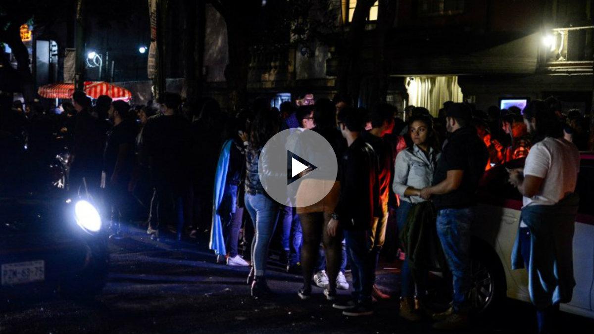 Un terremoto de 8.4 sacude México provocando el pánico en la capital del país. FOto: AFP