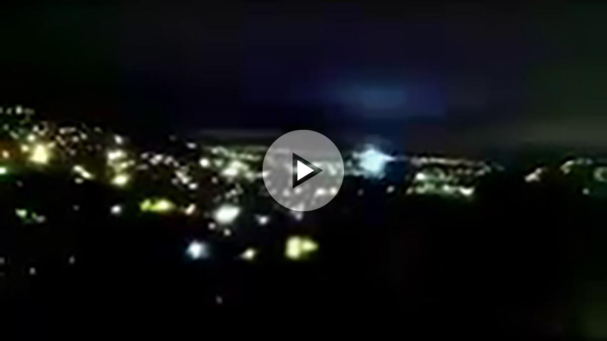 Luces de terremoto durante el terremoto de México