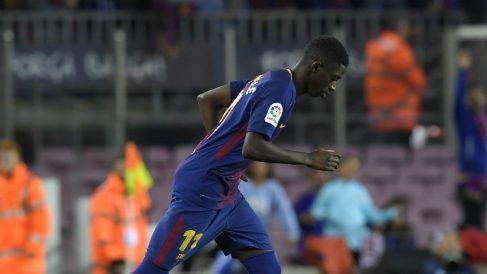 Dembélé debuta con el Barcelona en el Camp Nou. (AFP)