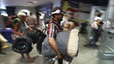 Evacuados por el huracán 'Irma' (Foto: AFP)