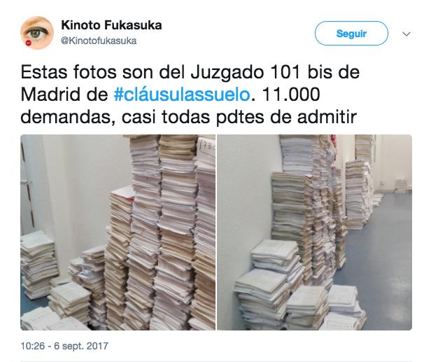 Colapso judicial por la avalancha de demandas por las for Reclamacion clausula suelo acuerdo previo