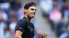 Rafa Nadal celebra un punto en la final del US Open. (AFP)