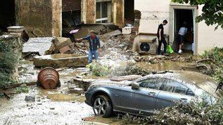 Efectos del temporal en Livorno (Foto: AFP).