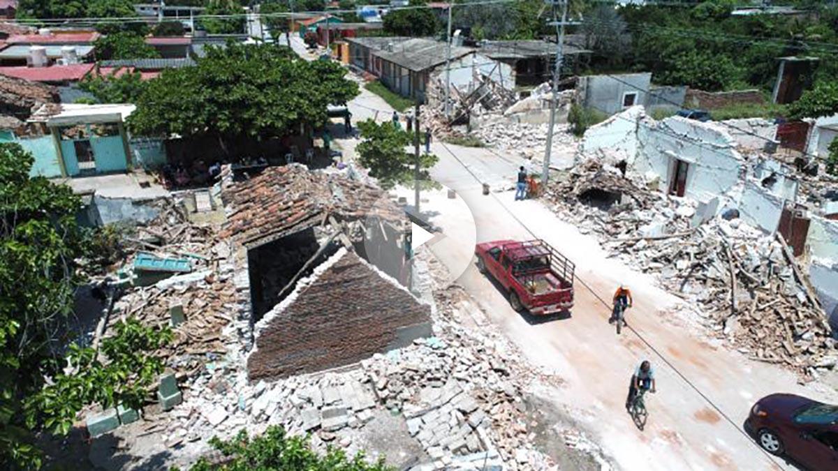 Imagen de las consecuencias del terremoto (Foto: AFP).