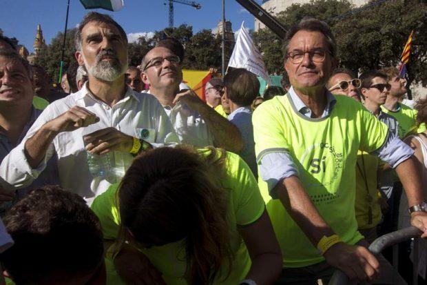 Artur Mas con la camiseta de la ANC