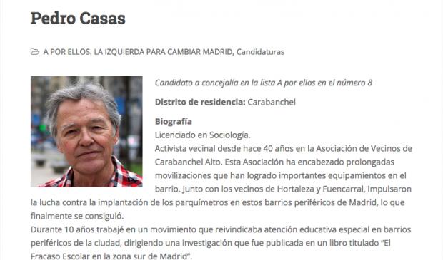 Un candidato de la lista de Carmena solicitó la sala para el acto independentista de la ANC en Madrid