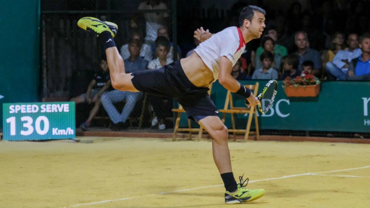 Cervantes, en acción en el Challenger de Sevilla. (Copa Sevilla)