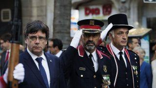 Carles Puigdemont en los actos de la Diada (Foto: EEFE)