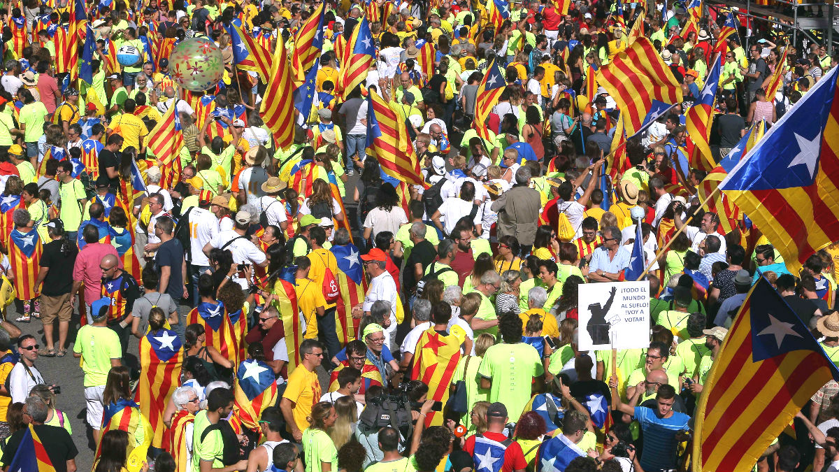 Última Diada en Cataluña.