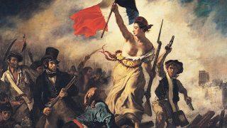 La Libertad guiando al pueblo (Delacroix).