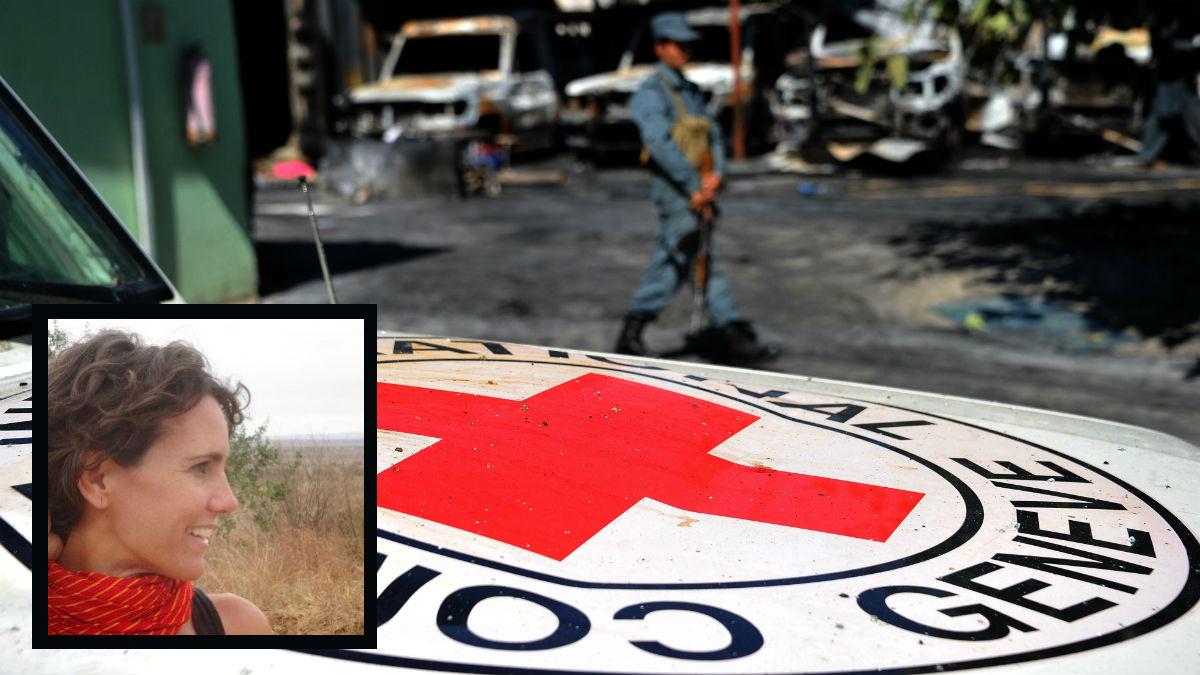 La cooperante Lorena Enebral, del CICR en Afganistán. (AFP)