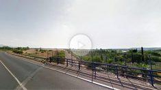 La vía del tren a la altura de la urbanización Soto del Espinosillo, en el municipio de Pepino (Toledo).
