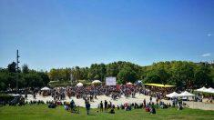 Acto de Podemos en la Diada