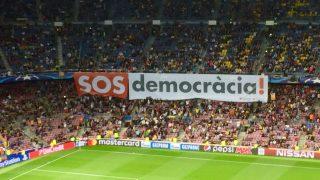 El Camp Nou, en una reciente manifestación independentista.