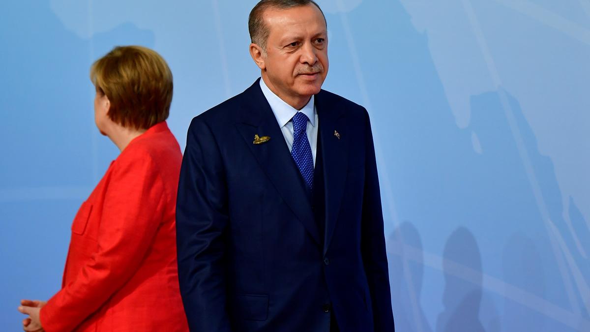 Angela Merkel y Recep Tayyip Erdogan (Foto: AFP)