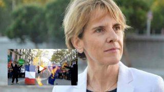 Samanta Cazebonne, diputada francesa que exige que la quema de su enseña nacional no quede impune.