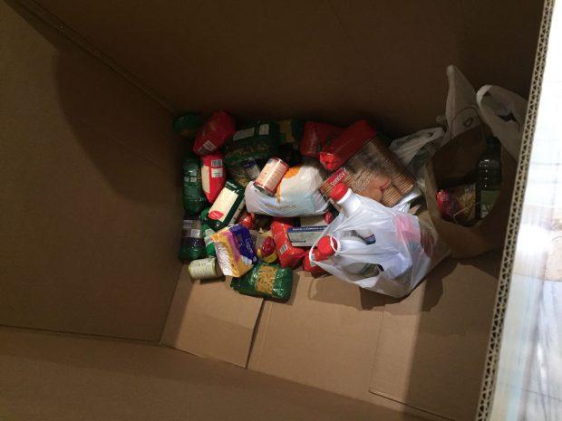 Los diputados sólo donan 30 kilos de alimentos en una campaña solidaria en el Congreso