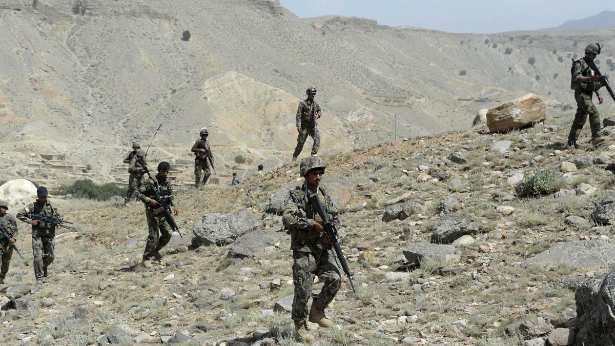 Fuerzas de seguridad afganas en la zona de Nangarhar (Foto: AFP)