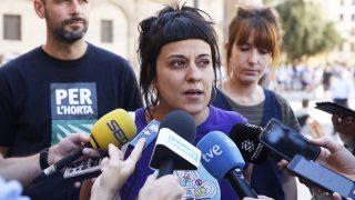 Anna Gabriel, portavoz de la CUP en el parlamento de Cataluña. (Foto: EFE)