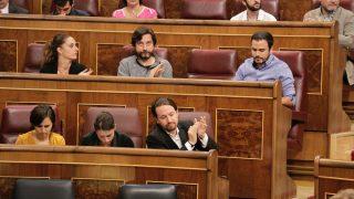 Pablo Iglesias, en el Congreso de los Diputados. Foto: Francisco Toledo.