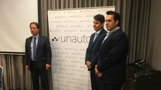 A la derecha, Eduardo Martín, presidente de Unauto.