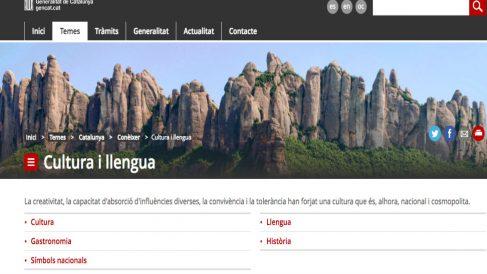 Web institucional de la Generalitat.