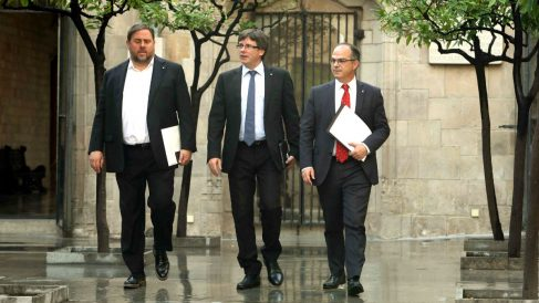 Oriol Junqueras, Carles Puigdemont y Jordi Turull.