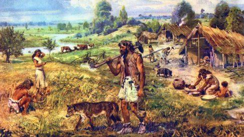 El Paleolítico constituye, junto con el Mesolítico y el Neolítico, la llamada Edad de Piedra.