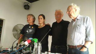 Los promotores del acto independentista en Madrid