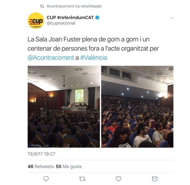 La CUP toma la universidad de Valencia para fomentar la independencia en la Facultad de Historia