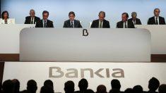 El presidente de Bankia, José Ignacio Goirigolzarri, durante la Junta General extraordinaria de Accionistas de la entidad celebrada para aprobar la fusión por absorción de BMN. (Fuente: EFE/Miguel Ángel Polo)