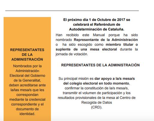Quienes reciban la carta para formar parte de las mesas electorales pueden denunciar a la Generalitat