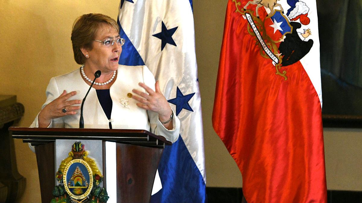 Michelle Bachelet en una reciente imagen (Foto: AFP).