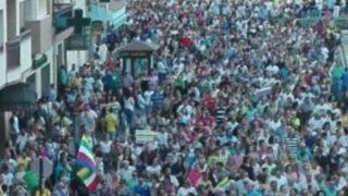 Manifestación en Linares