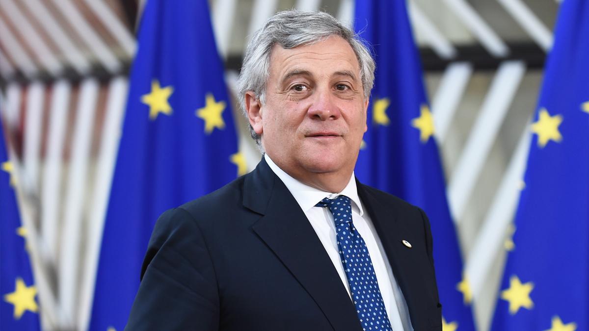 Antonio Tajani, presidente del Parlamento Europeo. (Foto: AFP)