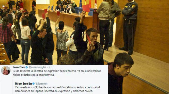 """Errejón habla de """"libertad de expresión"""" y Rosa Díez le recuerda cuando él la escracheó en la universidad"""